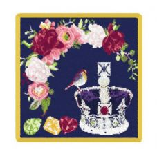 Feiler 'The Royal Crown' washcloth Yellow Gold